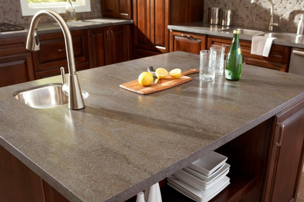 Elegant Corian Solid Surface Countertop