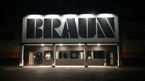 Braun Building Center at Night
