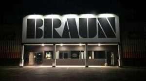 Braun Building Center at Night