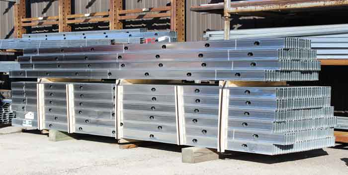 Steel Studs in Lumber Yard