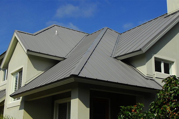 metal sales house with metal roofing