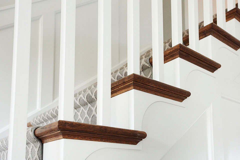 LJ Smith Wood Baluster Stairs