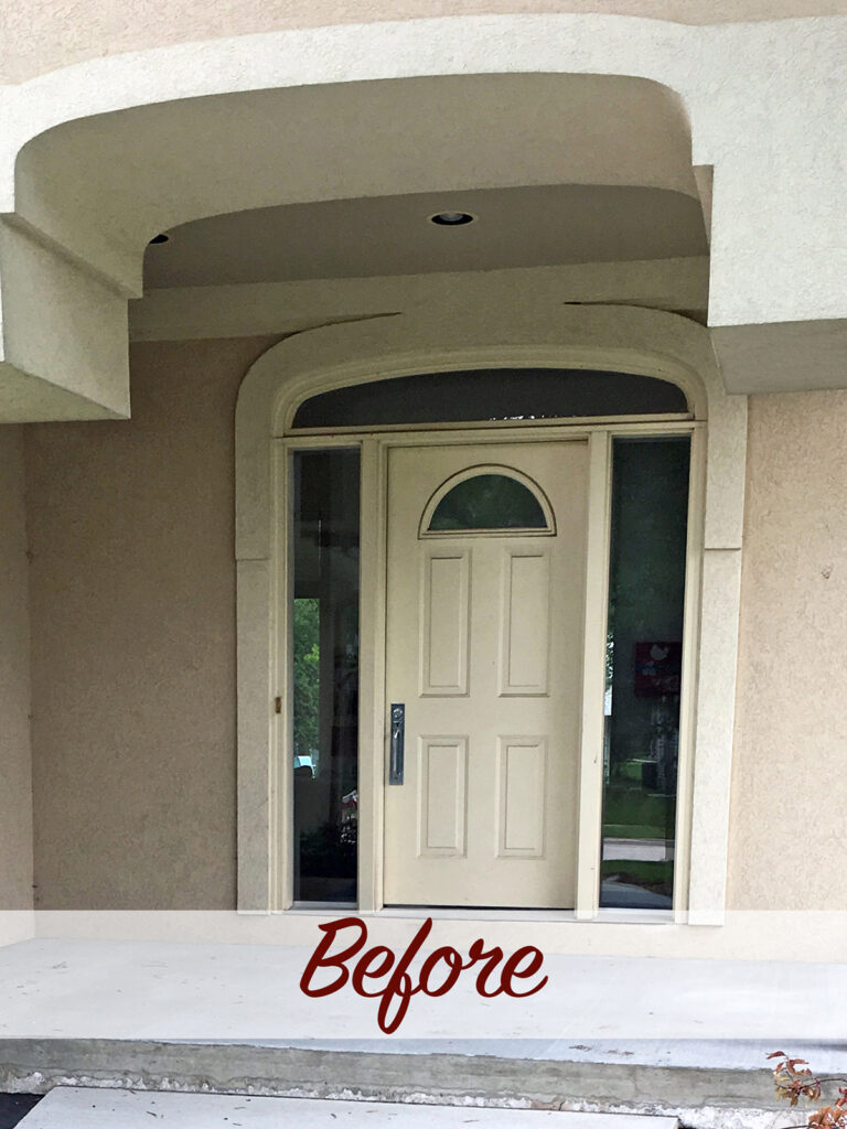 Before View - Curb Appeal Gets a Boost New Entry Door 1