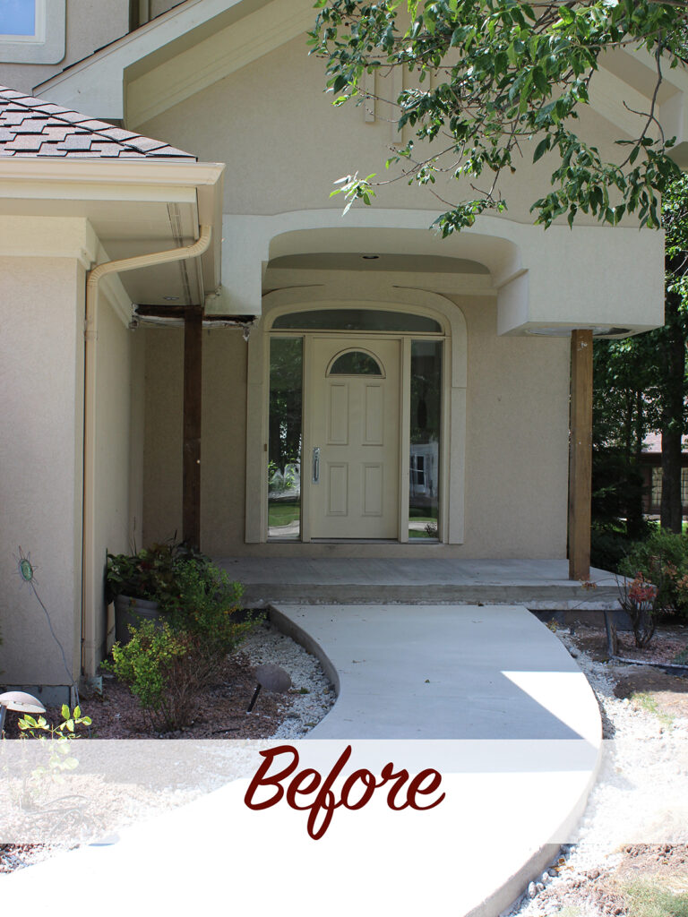 Before View - Curb Appeal Gets a Boost New Entry Door 2