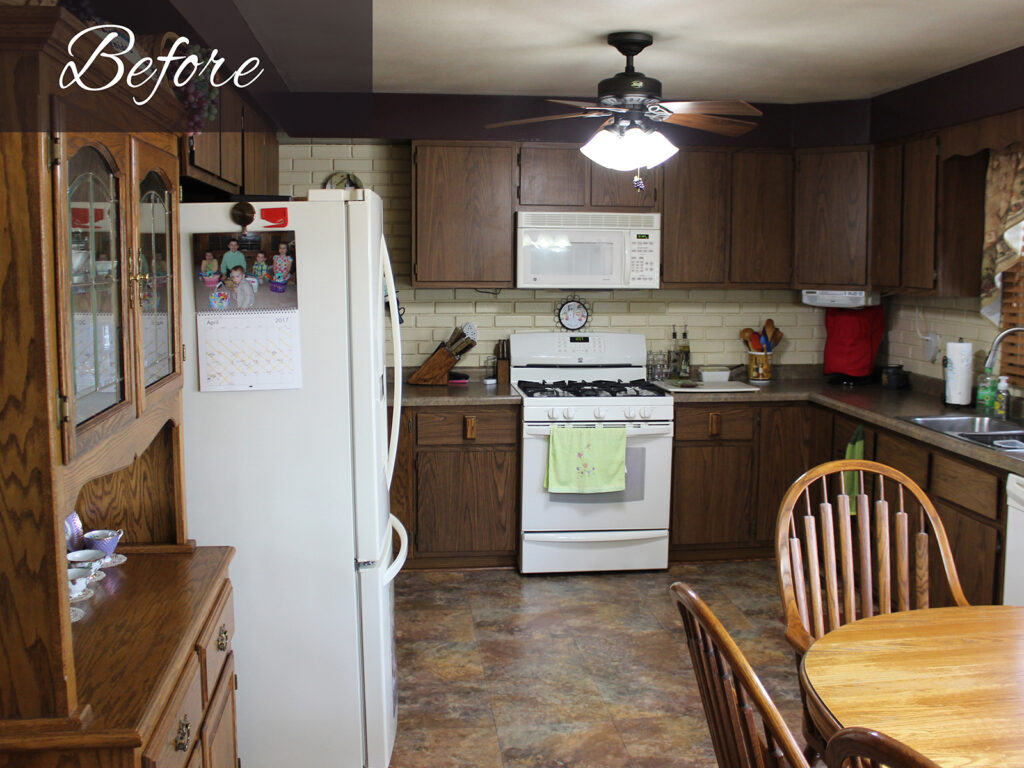 Before - Mid Continent Cabinetry Beautiful Kitchen Redesign 1