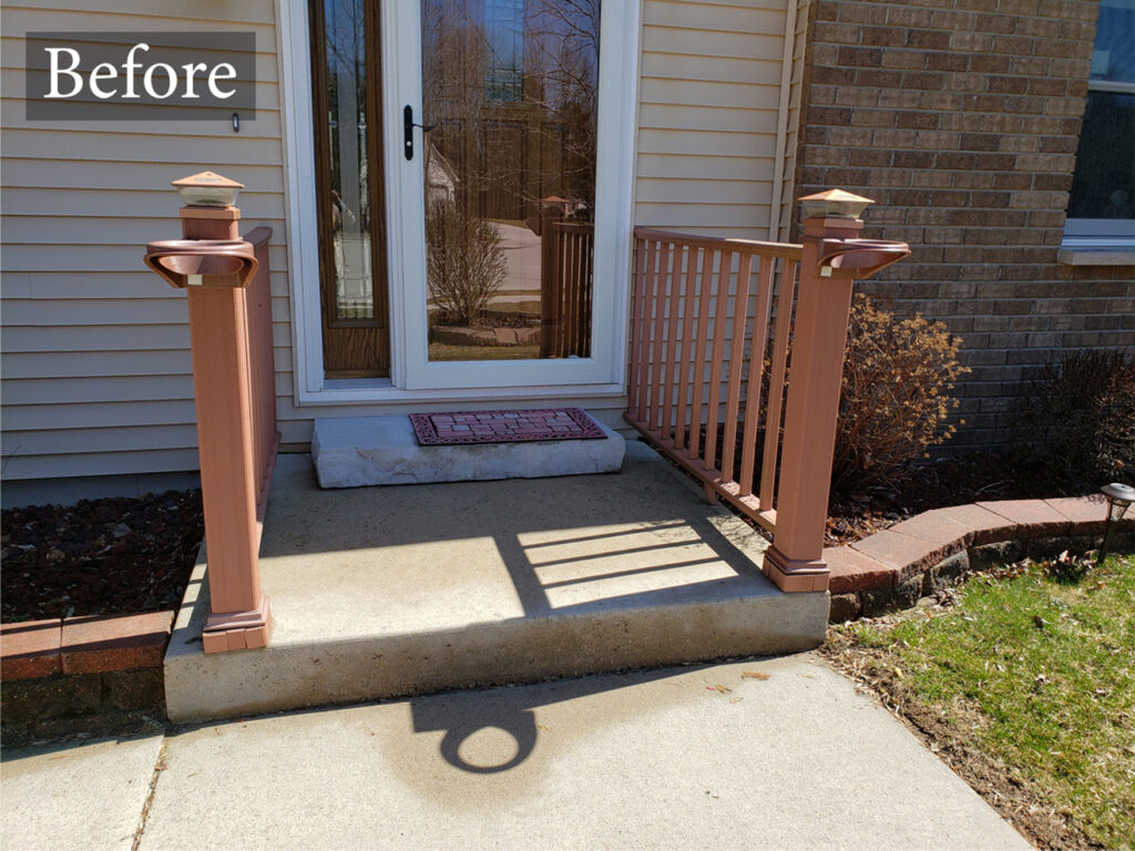 Before Trex Decking Front Porch