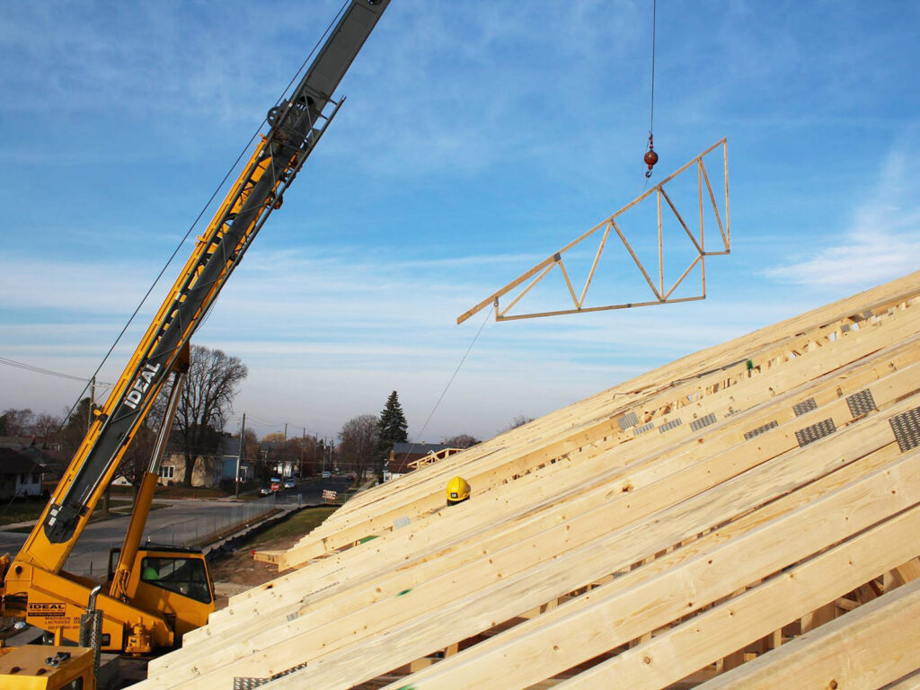 Extensive Truss and Framing System Laurel Grove Assisted Living Facility 14