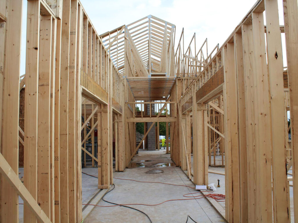 Extensive Truss and Framing System Laurel Grove Assisted Living Facility 2