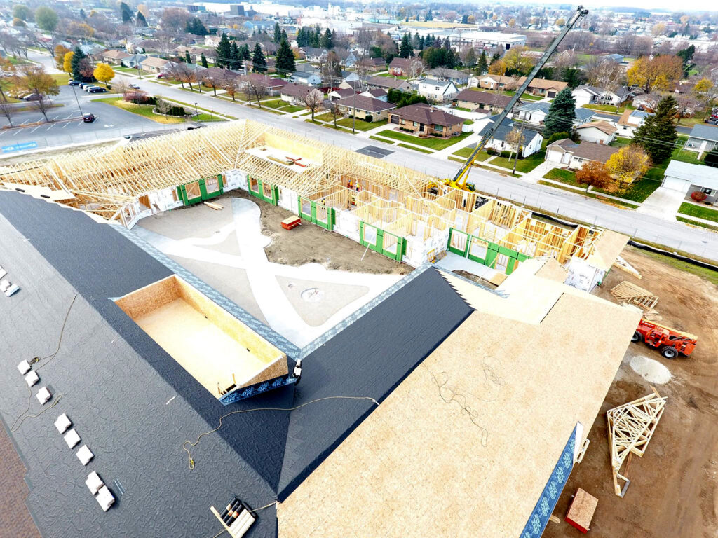 Extensive Truss and Framing System Laurel Grove Assisted Living Facility 10
