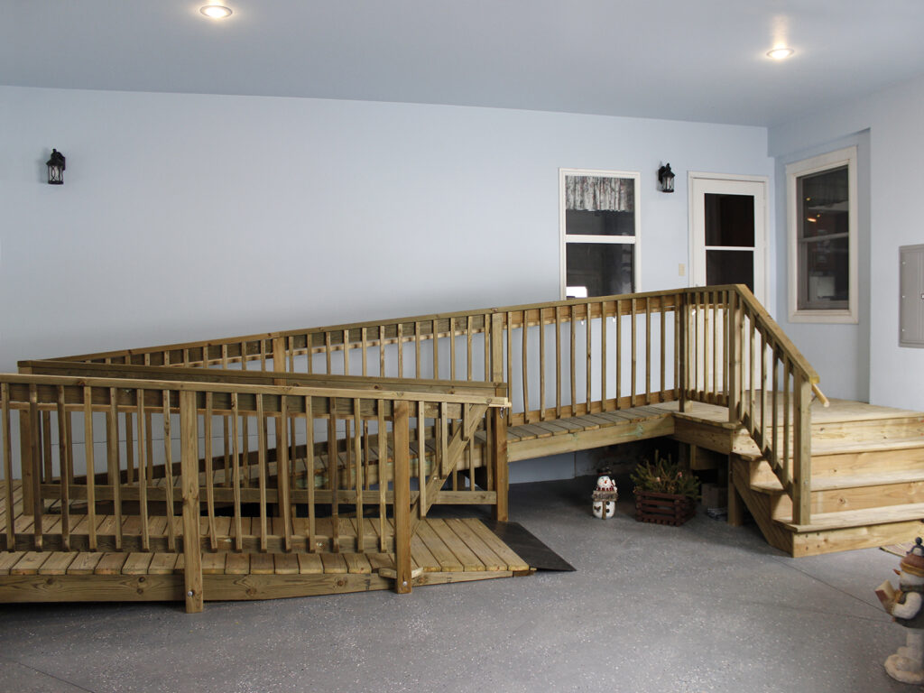 Handicap Accessible House Entrance and Garage