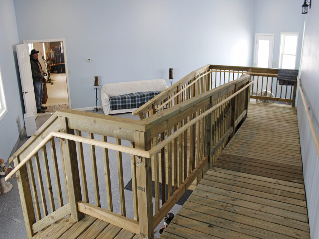 Handicap Accessible House Entrance and Garage 6