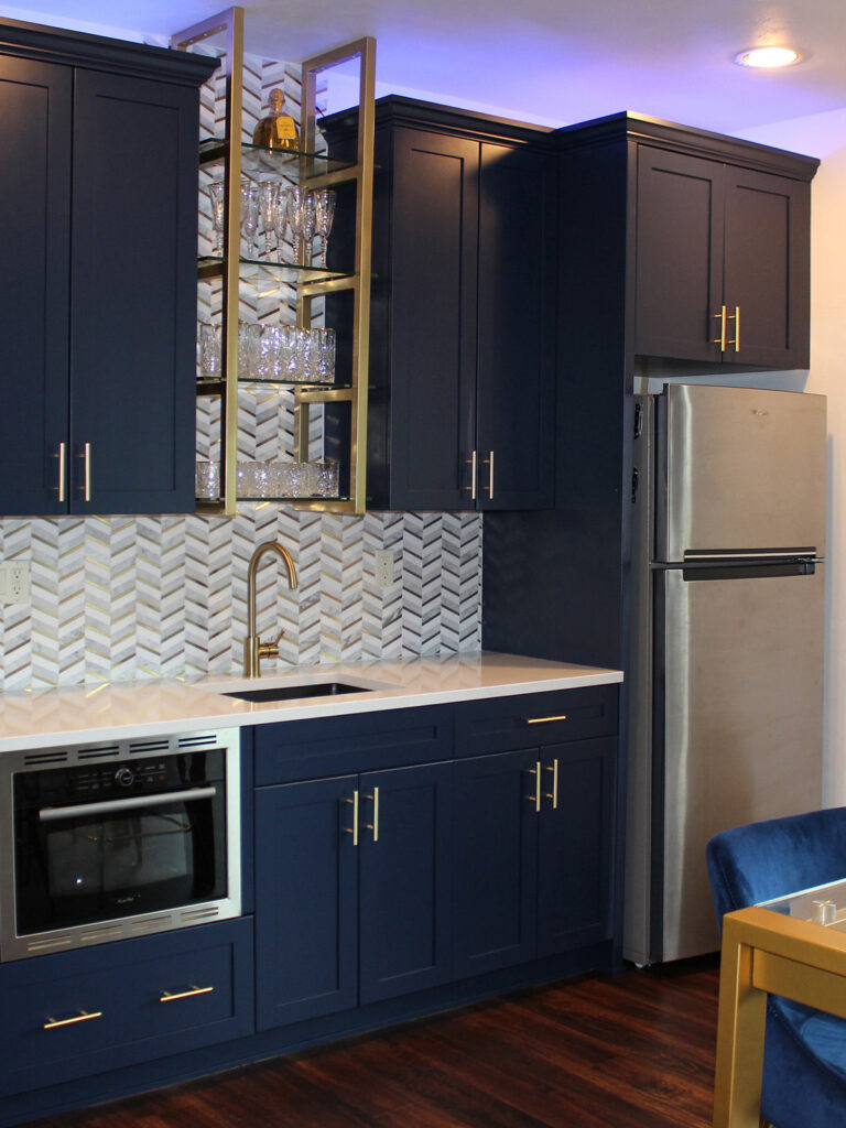 Lower Level Kitchenette Addition Perfect for Entertaining