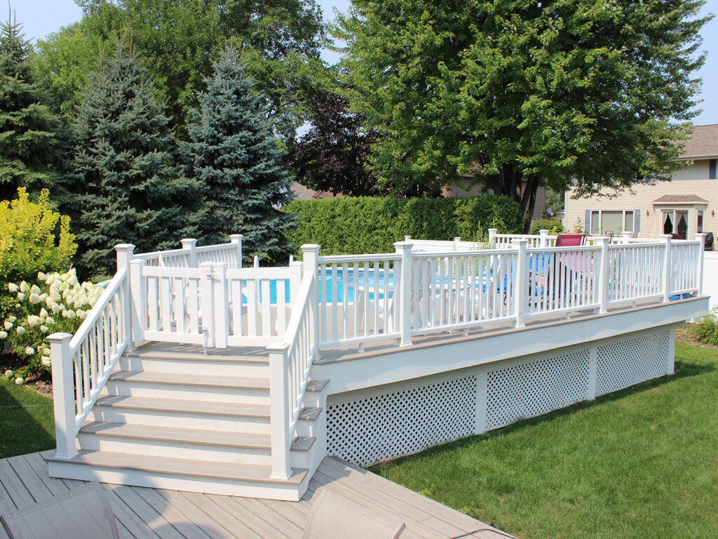 Maintenance Free Composite Pool Deck