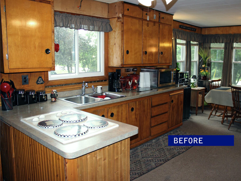Before Mid Continent Cabinetry Dramatic 1950s Kitchen Makeover 1