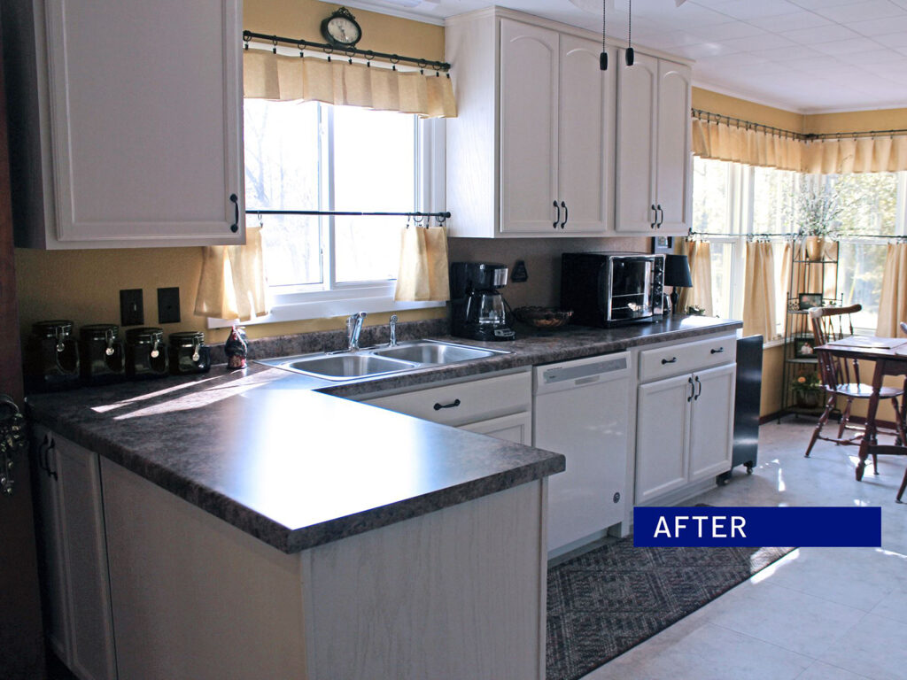Mid Continent Cabinetry Dramatic 1950s Kitchen Makeover 2