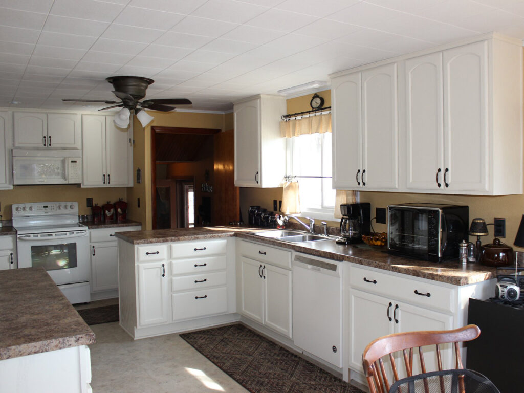 Mid Continent Cabinetry Dramatic 1950s Kitchen Makeover