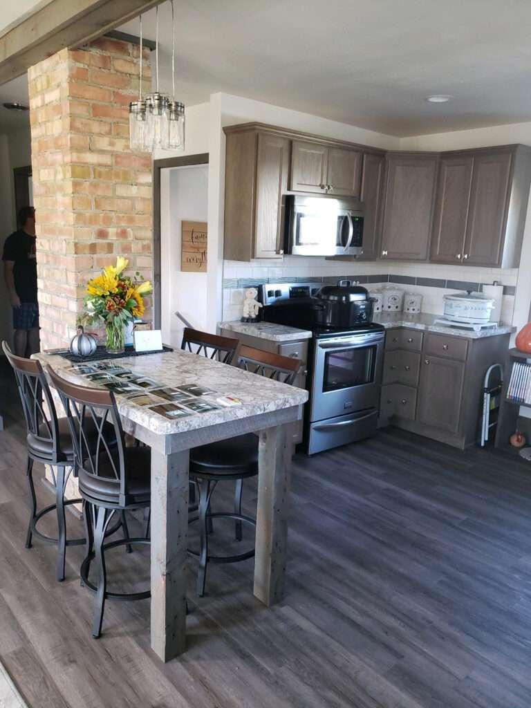Modern Beautiful Update to 60s Kitchen with StarMark Cabintery