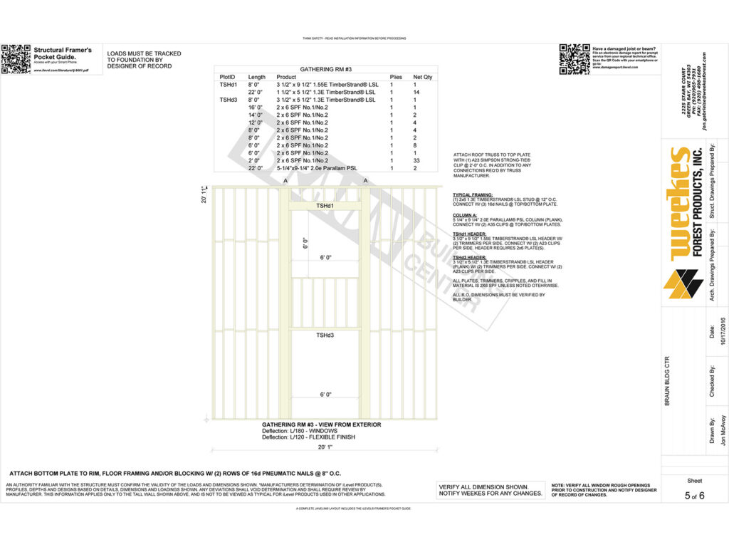 New Home Construction Tall Wall Layout 11