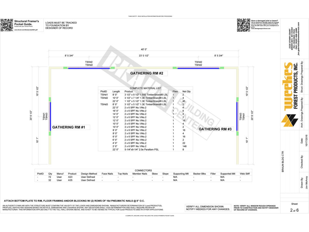 New Home Construction Tall Wall Layout 8