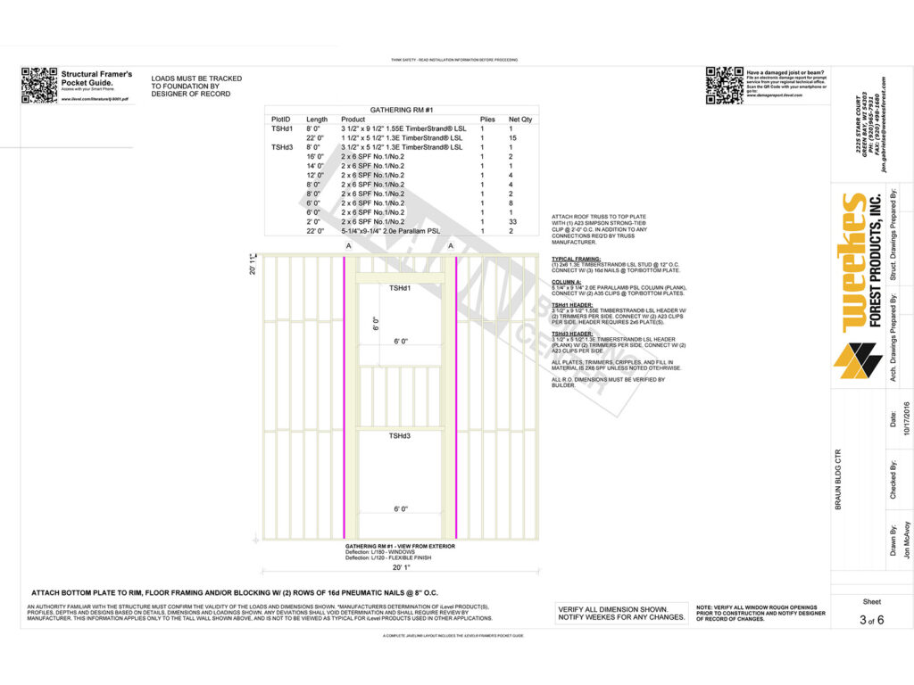 New Home Construction Tall Wall Layout 9