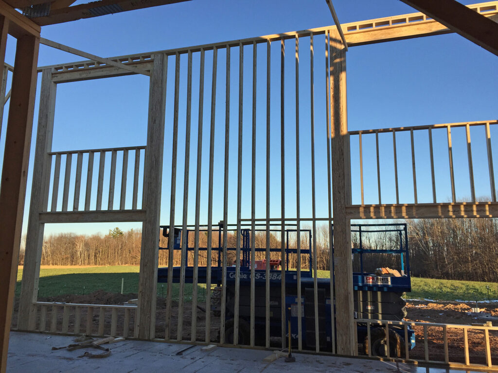 New Home Construction Timberstrand Tall Wall Framing 7
