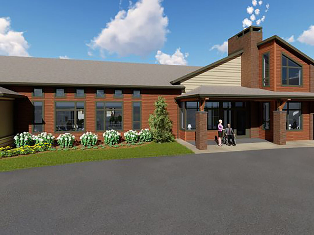 Rendering Extensive Truss and Framing System Laurel Grove Assisted Living Facility