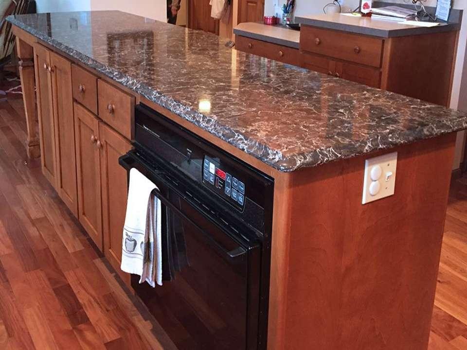 StarMark Cabinetry Glamorous Kitchen Island Addition 5
