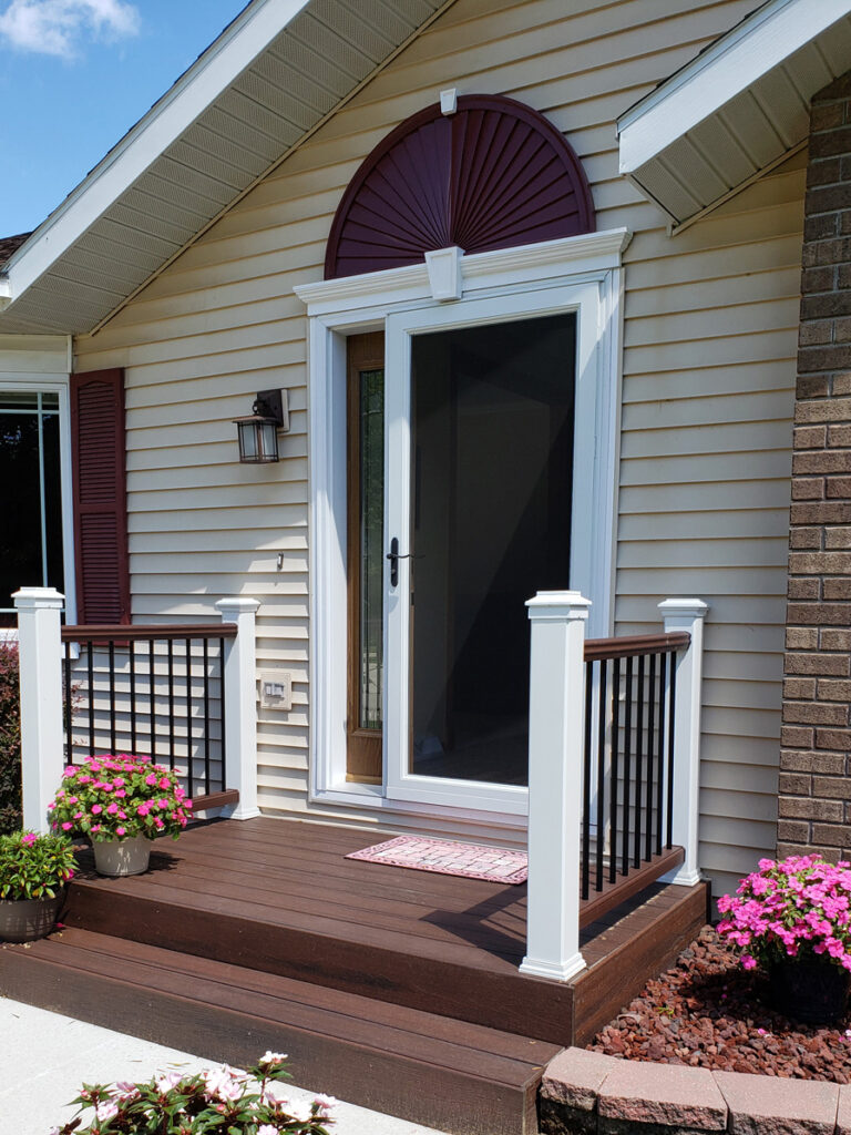 Trex Decking Front Porch Replacement