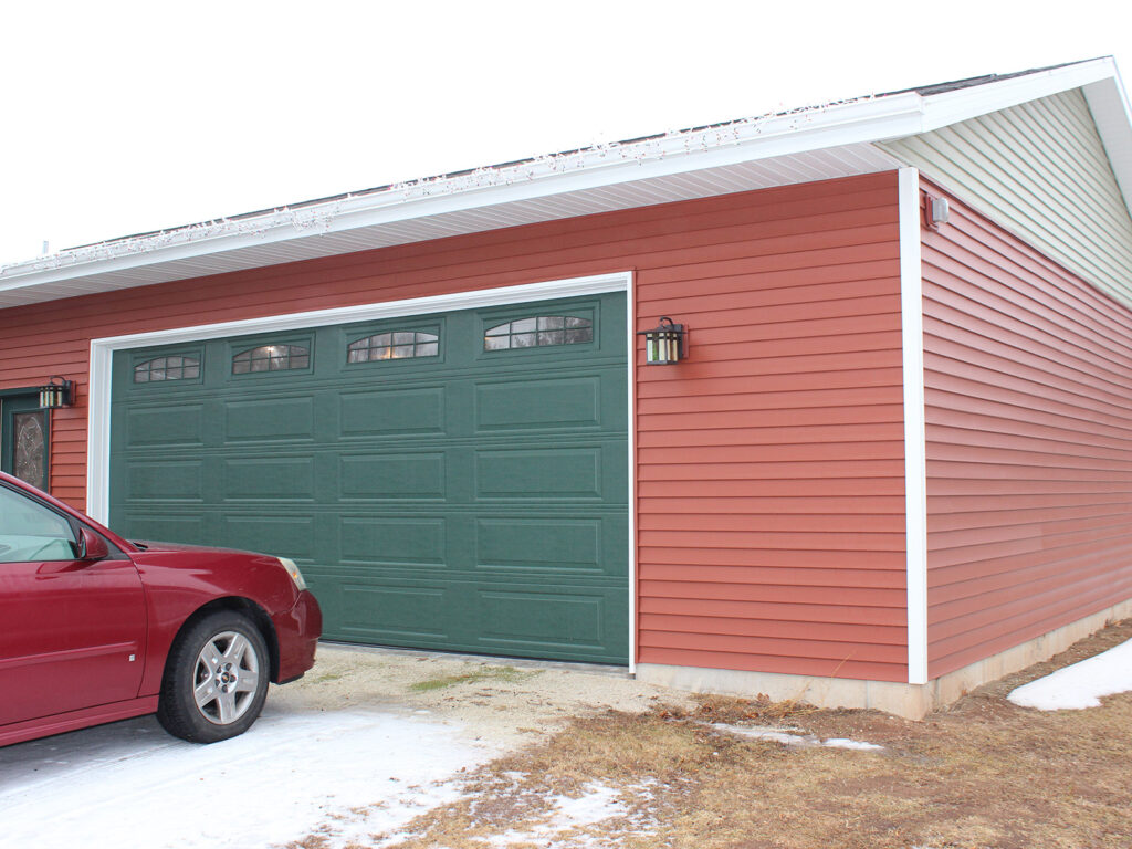 Two and a Half Car Garage Addition to House