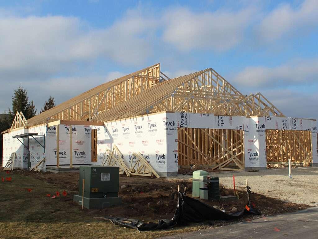 Braun Framing and Trusses at Condo Duplex