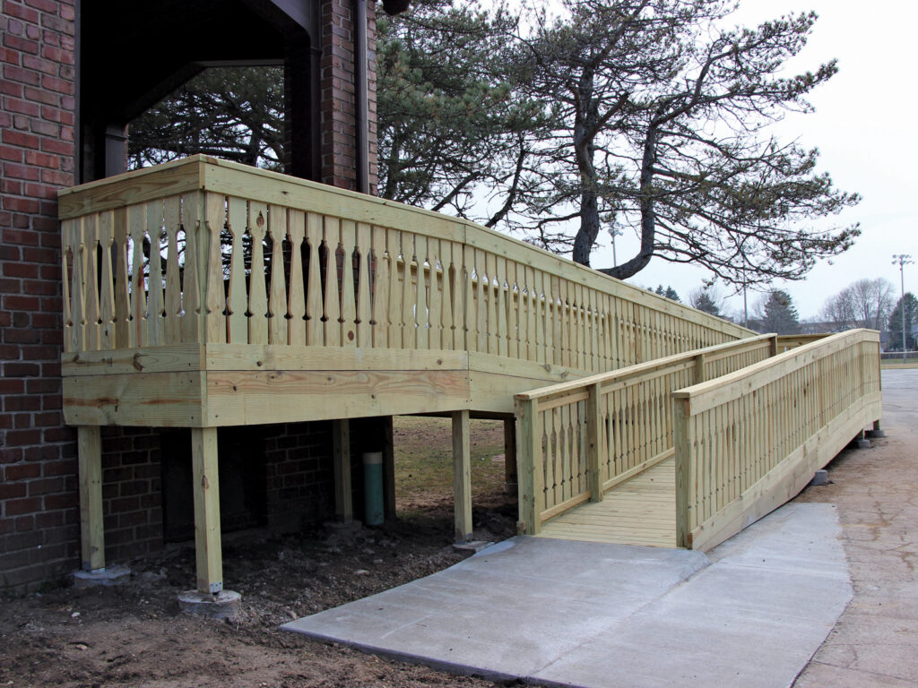 ADA Ramp at Lincoln Park Fieldhouse