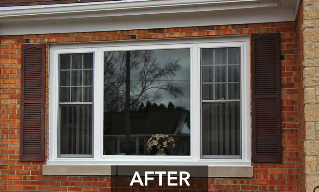 Outside View After Window Unit Replacement Alliance Windgate