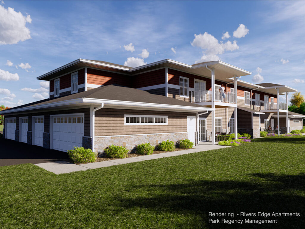 Rivers Edge Apartments-Exterior Rendering