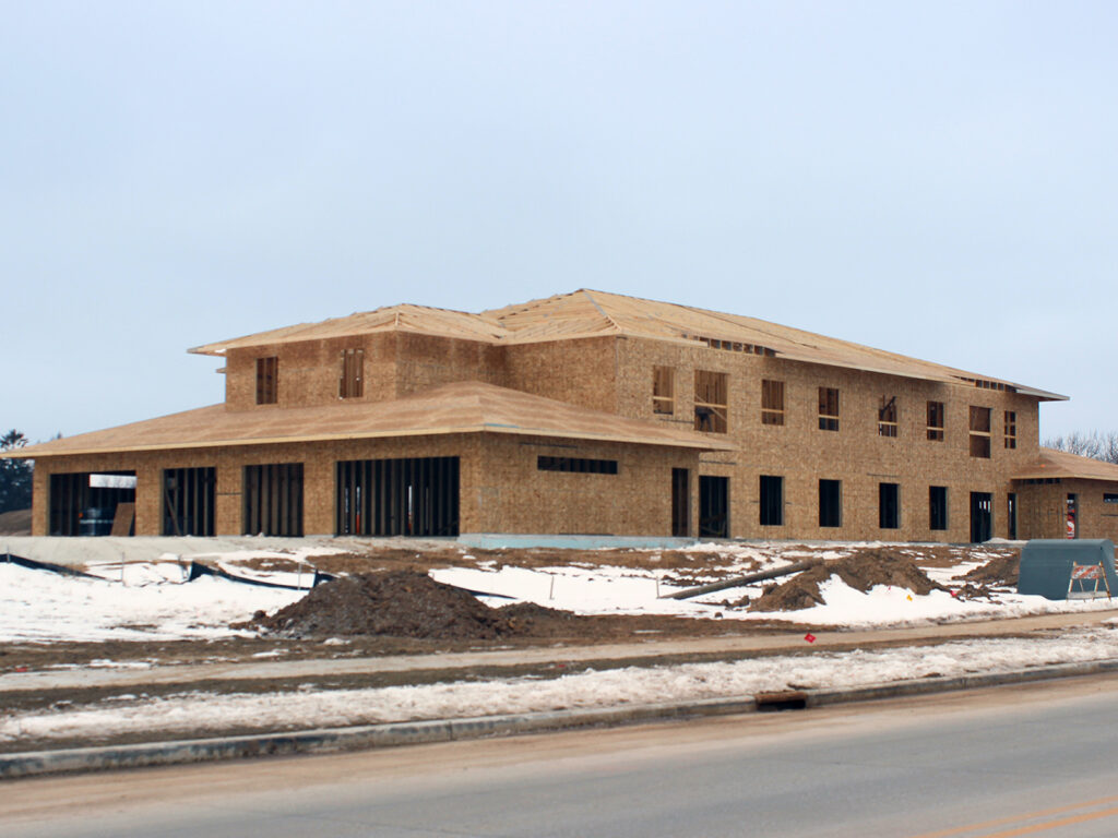Rivers Edge Apartments Walls-Trusses Roofing Installed