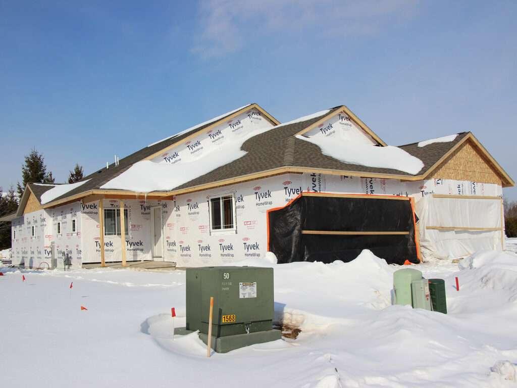 Roofing System Tyvek HomeWrap Windows and Patio Doors Installed