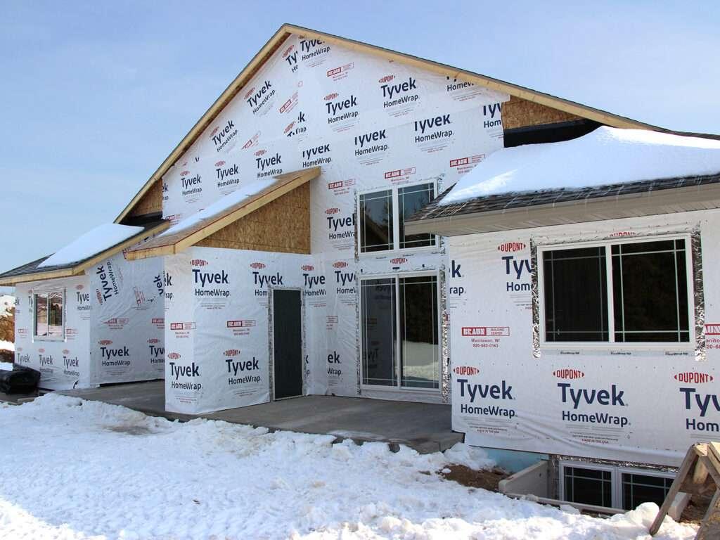 Roofing System Tyvek HomeWrap Windows and Patio Doors Installed-2