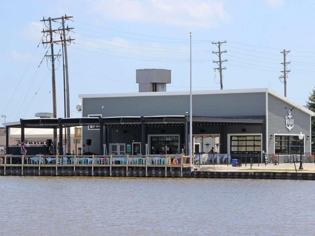 The Wharf Manitowoc - riverfront view