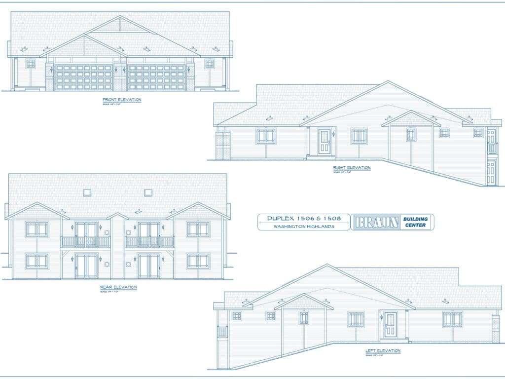 Blueprints-Duplex Condo Units 1506 and 1508