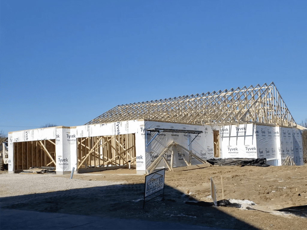 Framing and exterior work on Condo Units 1506 and 1508