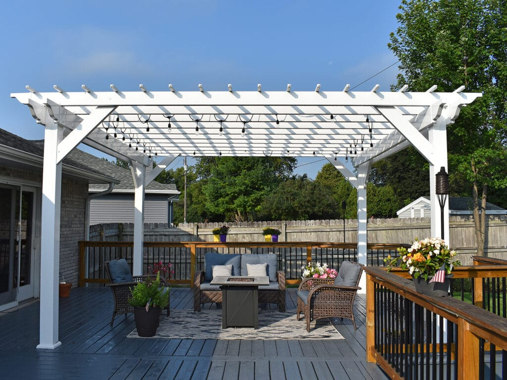Deck Refresh with Vinyl Pergola and New Rail System