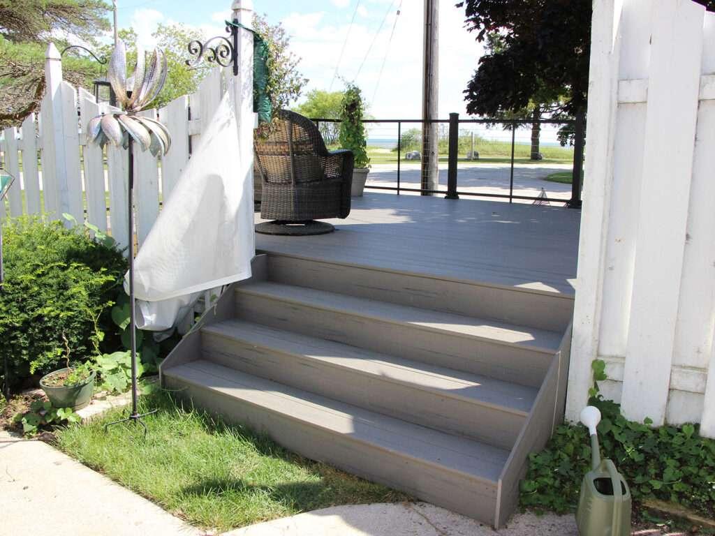 TimberTech Deck Stair Entrance